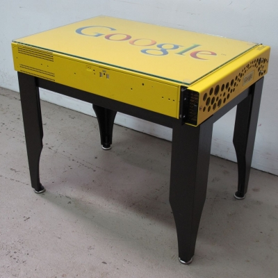 Patinaed Steel Data Side Table