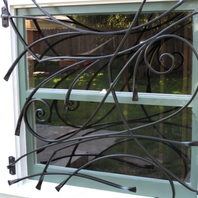 Hand Forged Steel Window Guards for Home Security