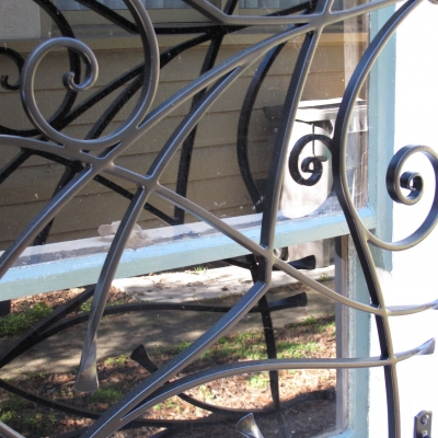 Detail of Beautiful Security Window Guards
