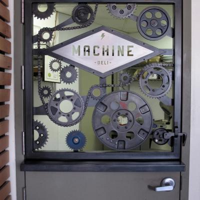 Machine Cafe Half Door Built with Real Junkyard Gears