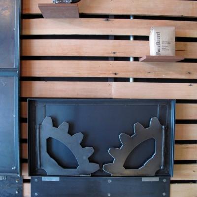 Drop Down Shelf Folded Against Wall