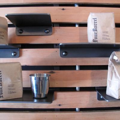 Modular Shelves with Rivet Detail