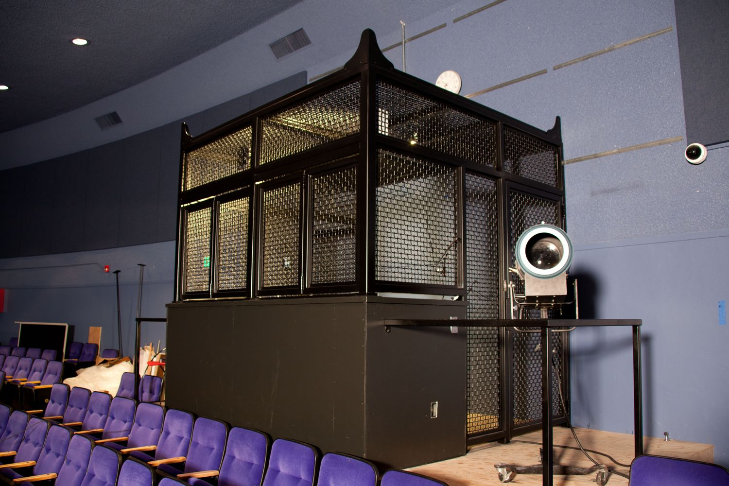 Sound and Lighting Booth for an Auditorium in Oakland CA & Sound/ Lighting Booth | Fusion Metals