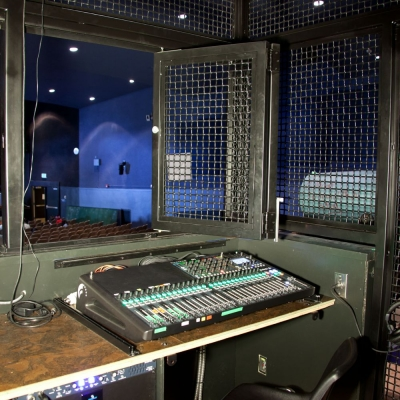 Interior of Auditorium Sound and Lighting Booth