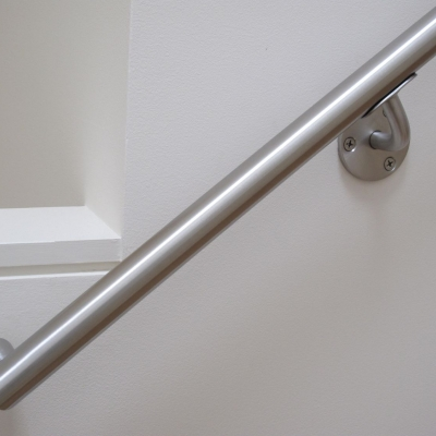 Brushed Stainless Handrail - Bracket Detail