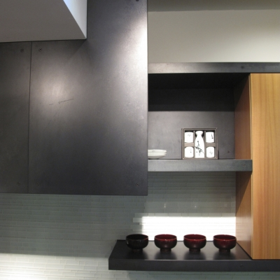 Steel Cladding - Hood and Shelf Detail