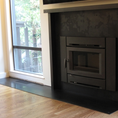 Steel Clad Fireplace - Full View