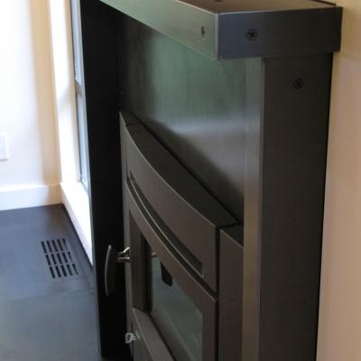Steel Clad Fireplace Detail